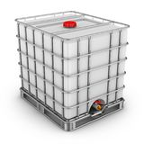 Containers for water. Water tank with metal grill. 3d rendering Royalty Free Stock Photography