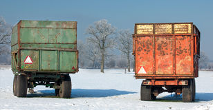 Containers in winter Stock Image