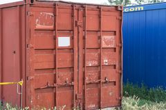 Containers for workers Stock Image