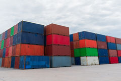 The containers. Yard in thailand royalty free stock image