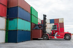 The containers. Yard in thailand stock photos