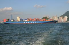 Containerschiff stockfoto