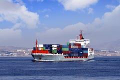 Containerschiff Stockfoto
