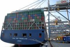 Containerschiff CMA-CGM Magellan Lizenzfreie Stockfotografie