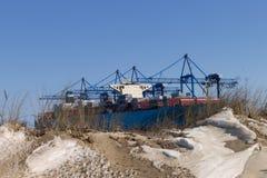 Das Containerschiff Lizenzfreie Stockfotos