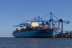 Das Containerschiff Lizenzfreies Stockfoto