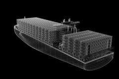 Containerschiff-Fracht lizenzfreie abbildung