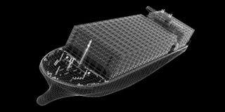 Containerschiff-Fracht vektor abbildung
