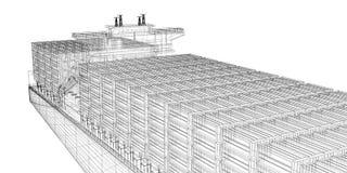 Containerschiff-Fracht stock abbildung
