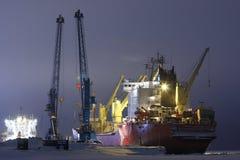 Containerschiff Kapitän Danilkin Stockbild