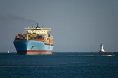 Containerschiff Kolumbien-Maersk lizenzfreies stockfoto
