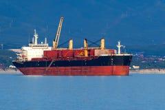 Containerschiff, Licht glättend stockfoto
