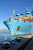 Containerschiff Maren Maersk stockbilder