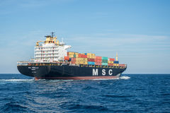 Containerschiff MSC Mirella Lizenzfreies Stockfoto