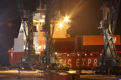 Containerschiff Nadezhda Stockfoto