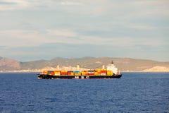 Containerschiff- oder Frachtschiff Stockbilder