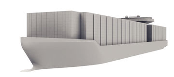 Containerschip Royalty-vrije Illustratie