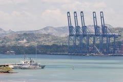 Containersdokken Stock Foto's