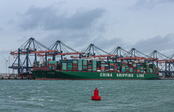 Containership глобуса CSCL Стоковое Фото