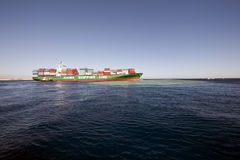 containership Arkivbild