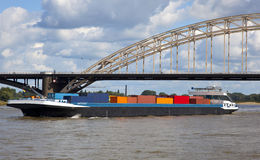 containership Royaltyfri Bild