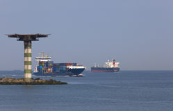 containership Royaltyfri Foto