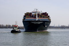 Containership Royalty-vrije Stock Foto's