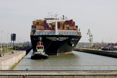 Containership stock afbeelding