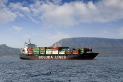 Containership Royaltyfria Foton