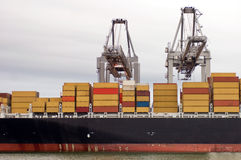Containership being unloaded Royalty Free Stock Photography