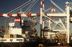 Containership in dock Royalty Free Stock Images