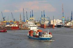 Containership_hamburg fotografia de stock