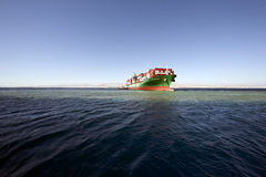 Containership Hamburgo furada no recife de Woodhouse. Fotos de Stock