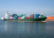 Containership in the harbour Royalty Free Stock Photography
