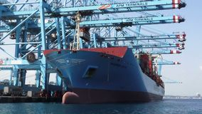 Containership Maersk arkivfilmer