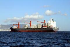 Containership Nord Baltic поставленный на якорь из залива Algeciras в Испании Стоковые Фото