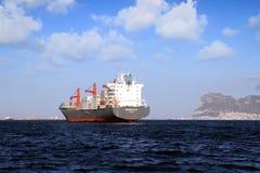 Containership Nord Baltic поставленный на якорь из залива Algeciras в Испании Стоковое Изображение
