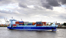 Containership in port Royalty Free Stock Photos