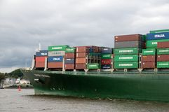 Containership in port Stock Photos