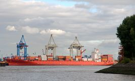 Containership in port Royalty Free Stock Photo