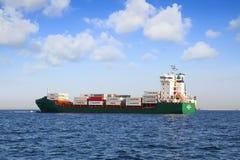 ContainershipContship GLÄDJE som ankras i den Algeciras fjärden Royaltyfri Fotografi