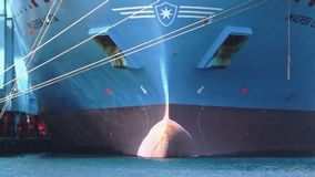 ContainershipMaersk Lota stock video