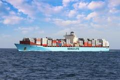 ContainershipSeago Bremerhaven segling Royaltyfria Bilder