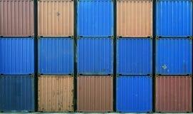 Containersstapel voor het verschepen Stock Afbeeldingen