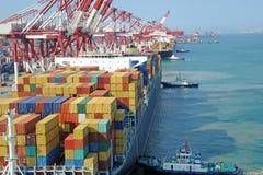 Containerterminal Stock Afbeeldingen