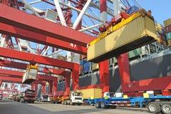 Containerterminal Royalty-vrije Stock Fotografie