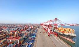 Containerterminal Royalty-vrije Stock Foto