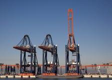 Containerterminal fotografia stock