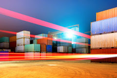 Containerterminal royalty-vrije stock afbeelding