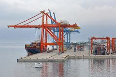 Containerterminal Royalty-vrije Stock Foto's